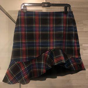 NWT Zara plaid skirt